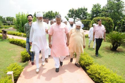 Union minister Sh. P.P Chaudhury s' visit to Sri Bhaini Sahib.