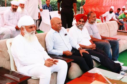 "Sri Satguru ji encouraging youths with his divine presence during ""Sri Satguru Jagjit Singh ji yaadgari junior hockey tournament"" on 11 October 2015."