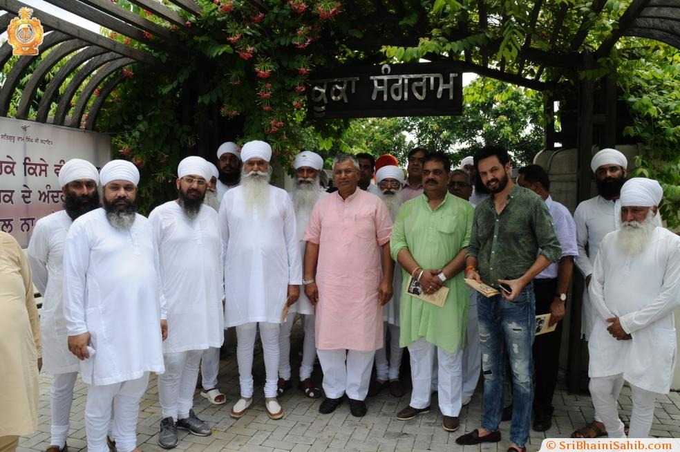 Union minister Sh. P.P Chaudhury s' visit to Sri Bhaini Sahib (23-08-2016).