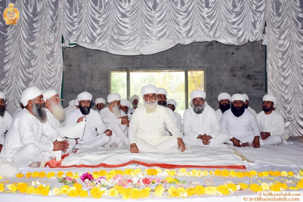 """Sri Satguru Ji blessing Sadh Sangat at Newly made """"Sri Satguru Jagjit Singh Ji conference hall"""" at Sri jivan Nagar on 28 March 2016."""
