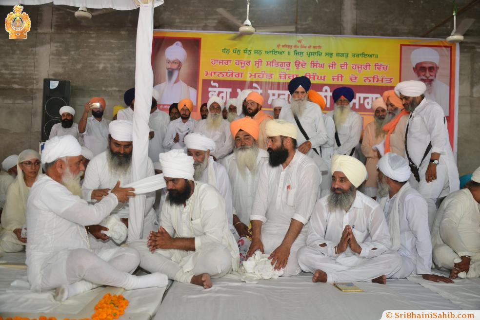 Satguru ji during Bhog of Sant Jora Singh Ji, 10 June 2018, Himmatpura