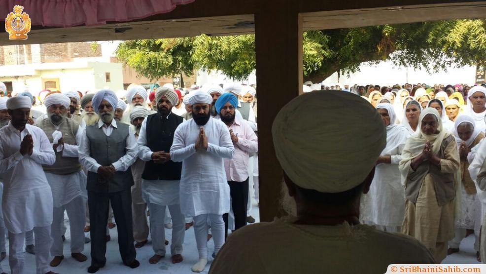 Bhog ceremony of Mata Pyar Kaur ji 28-11-2014 at Sri Jivan Nagar